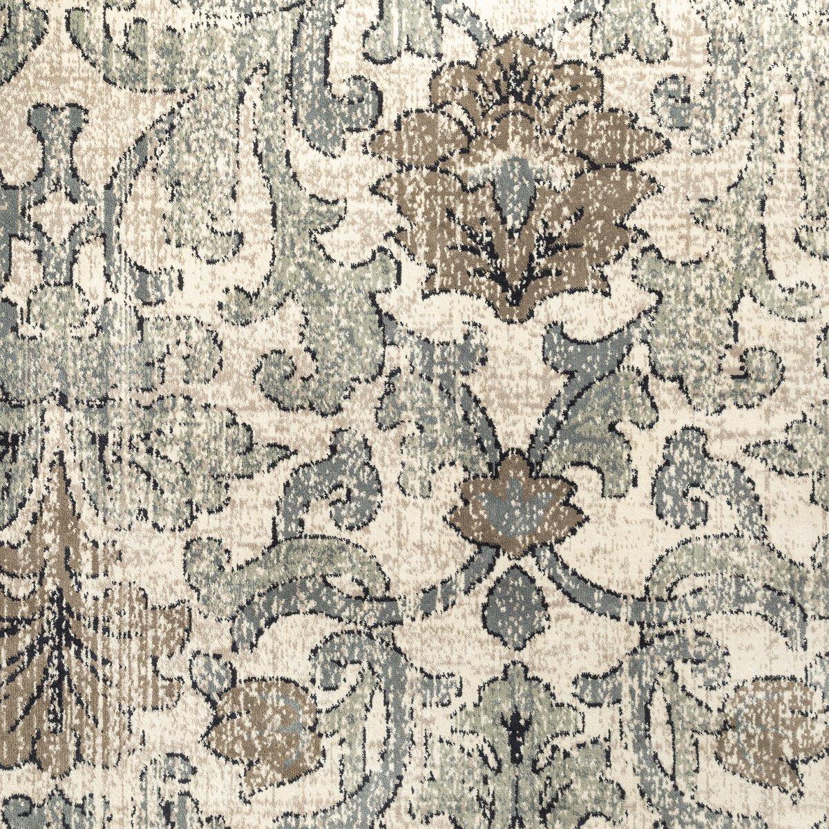 Fiona Blue Chenille & Silk 5x8 Area Rug