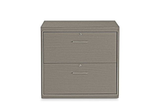 Highline Gray File Cabinet