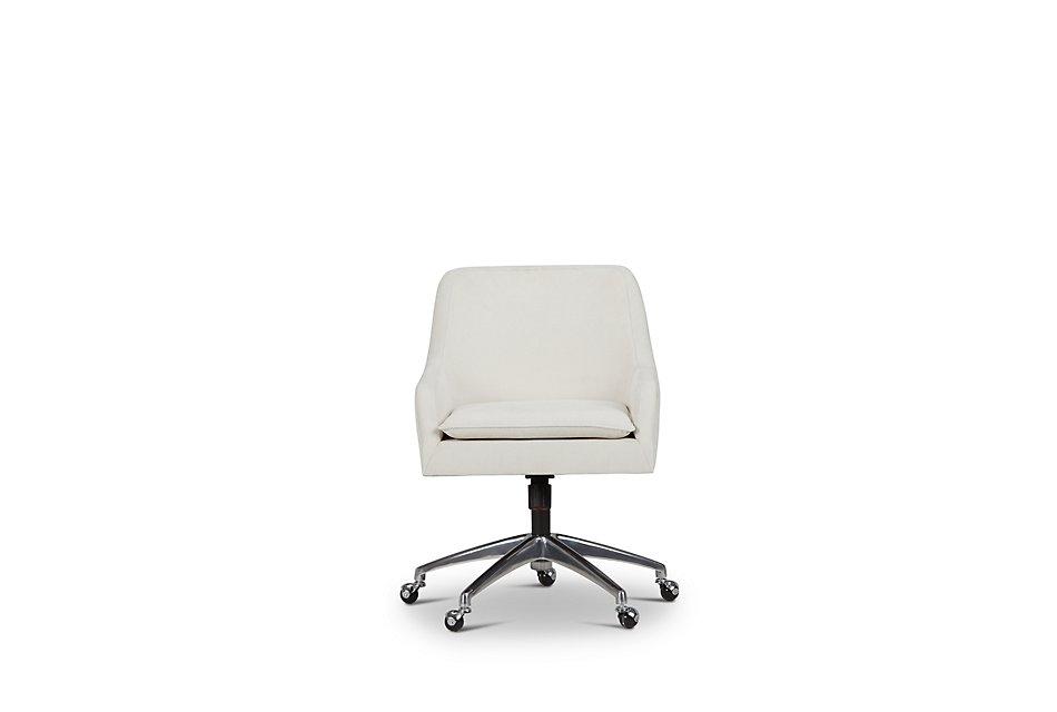 Highline White Upholstered Desk Chair