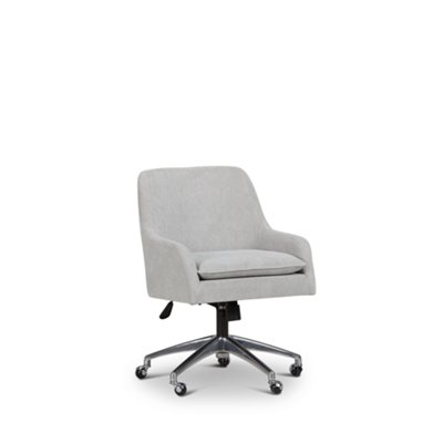 Highline Dark Gray Upholstered Desk Chair ...