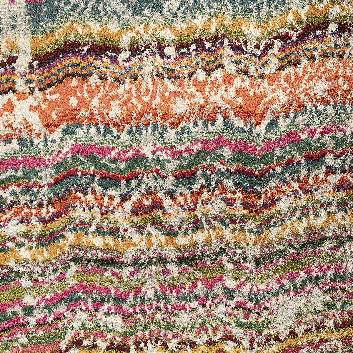 Kaleidoscop Multicolored Poly 8x11 Area Rug