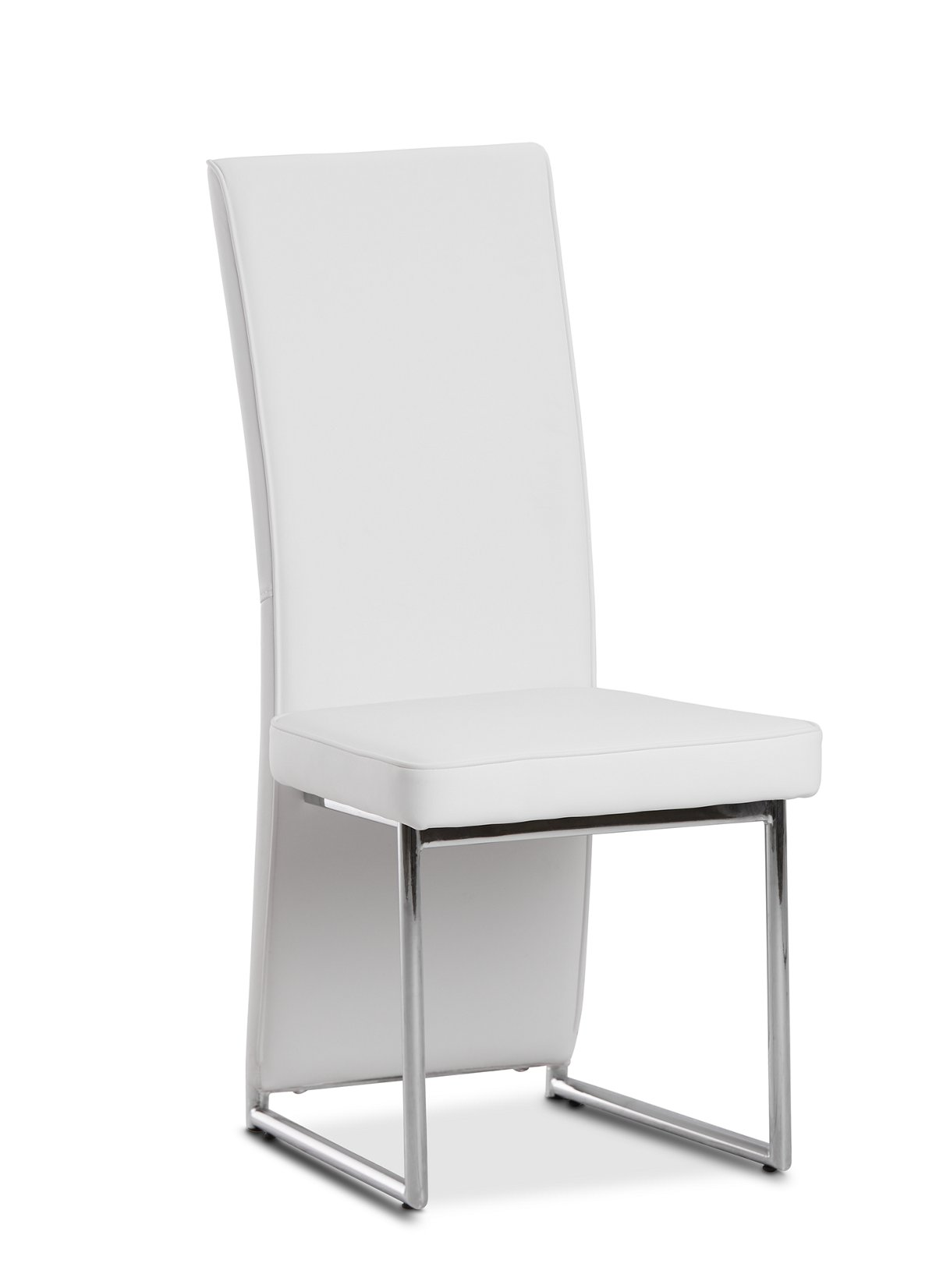 Paris White Upholstered Side Chair