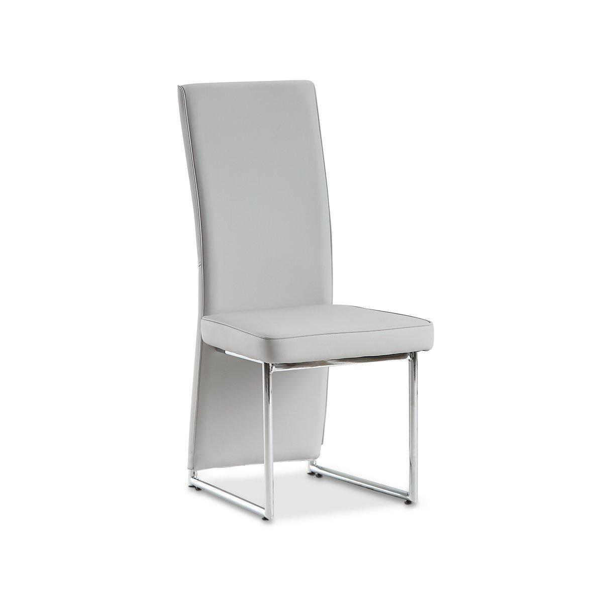 Paris Light Gray Upholstered Side Chair