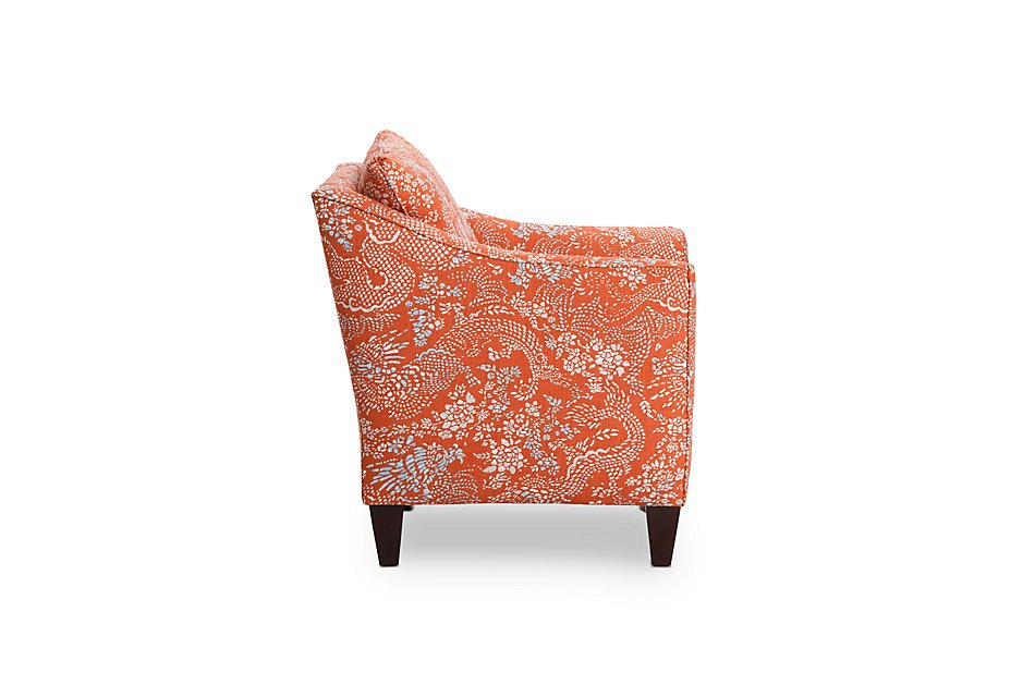 Miraculous Amupara Coral Fabric Accent Chair Home Accents Accent Evergreenethics Interior Chair Design Evergreenethicsorg