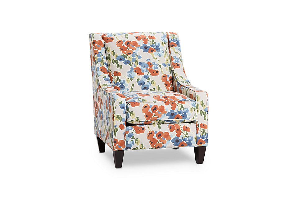 Phenomenal Blossom Coral Fabric Accent Chair Living Room Accent Evergreenethics Interior Chair Design Evergreenethicsorg