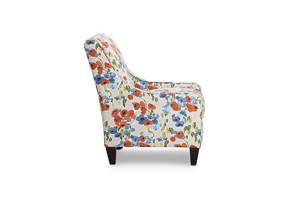 Surprising Blossom Coral Fabric Accent Chair Living Room Accent Evergreenethics Interior Chair Design Evergreenethicsorg
