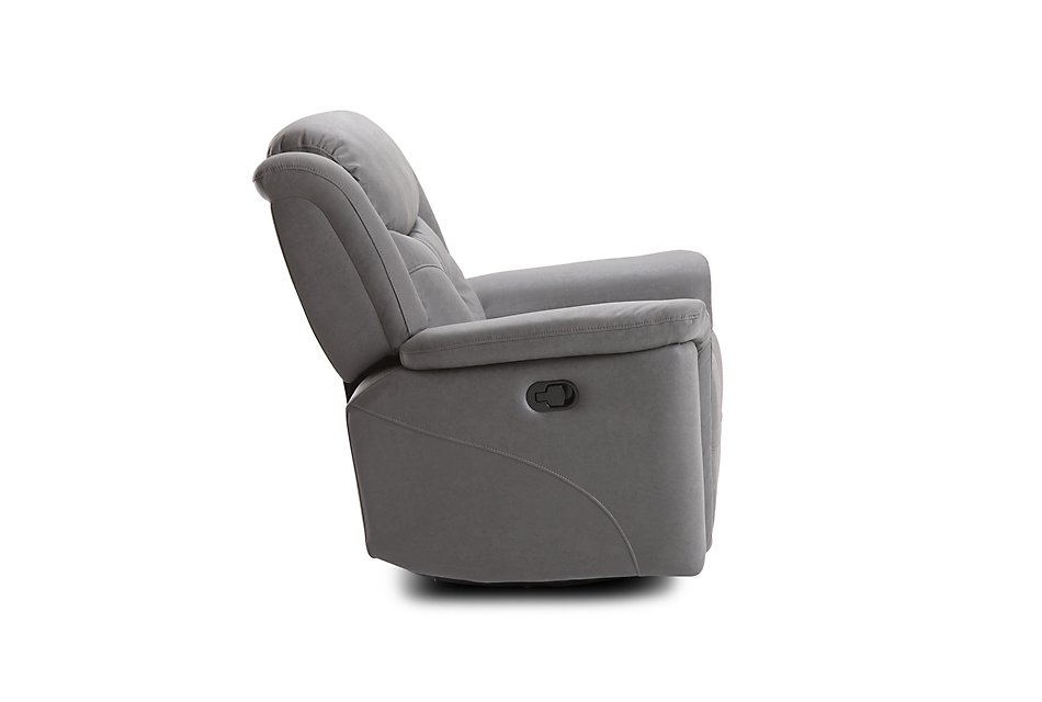 Calvin Light Gray  MICRO Swivel Glider Recliner