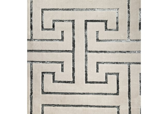 Kanta Taupe Poly Blend 5x8 Area Rug