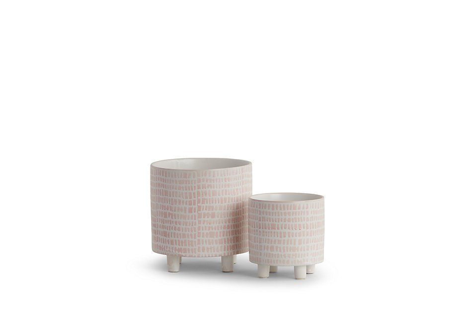 Alana Pink Set Of 2 Planter