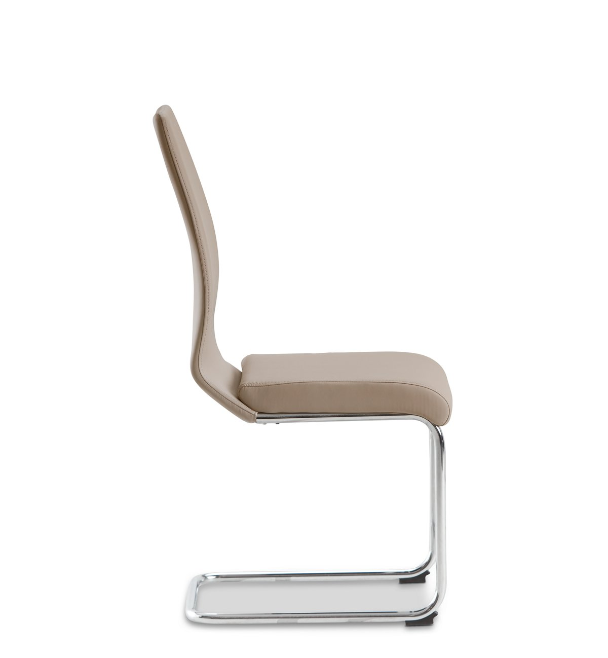 Lennox Taupe Fabric Upholstered Side Chair