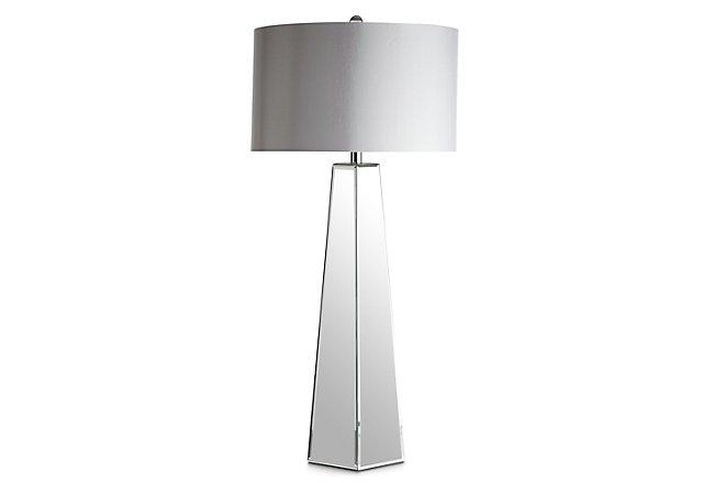 Aslan Gray Glass Table Lamp