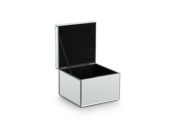 Marlin Silver Glass Box
