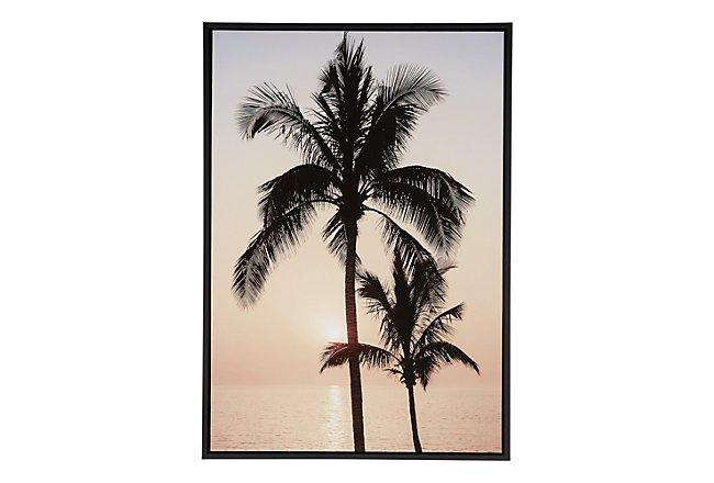 Palm Trees Orange Canvas Wall Art