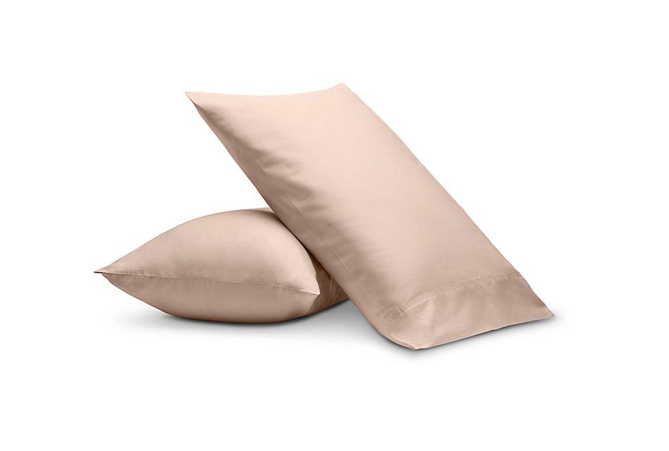 Cotton Sateen Pink 300 Thread Set Of 2 Pillowcases