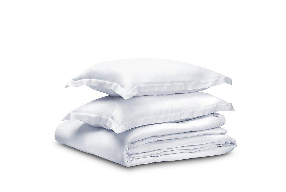 Tencel Cotton White 300 Thread Duvet Set
