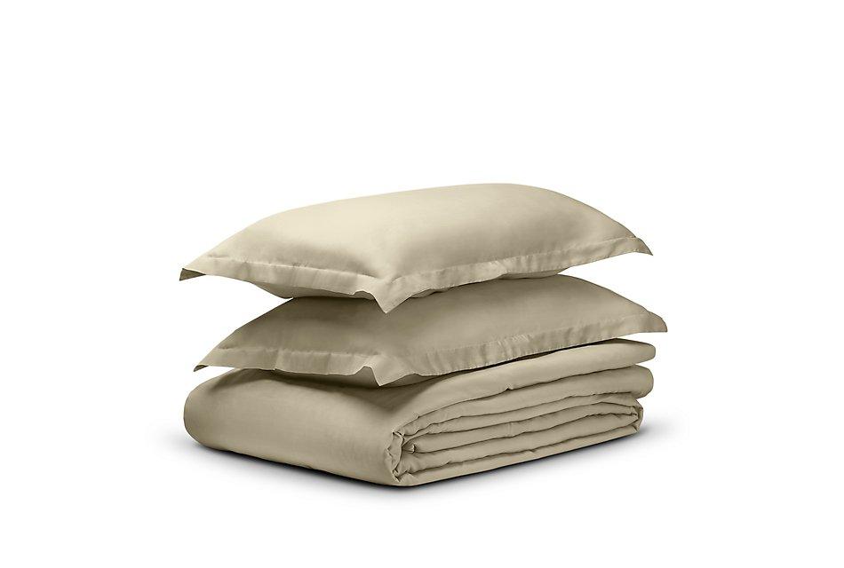 Tencel Cotton Beige 300 Thread Duvet Set