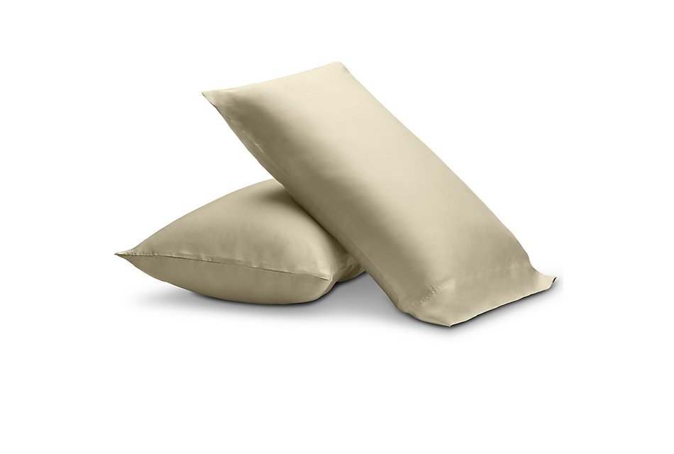 Tencel Cotton Beige 300 Thread Set Of 2 Pillowcases