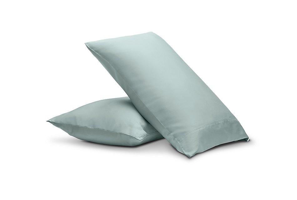 Egyptian Cotton Blue 400 Thread Set Of 2 Pillowcases