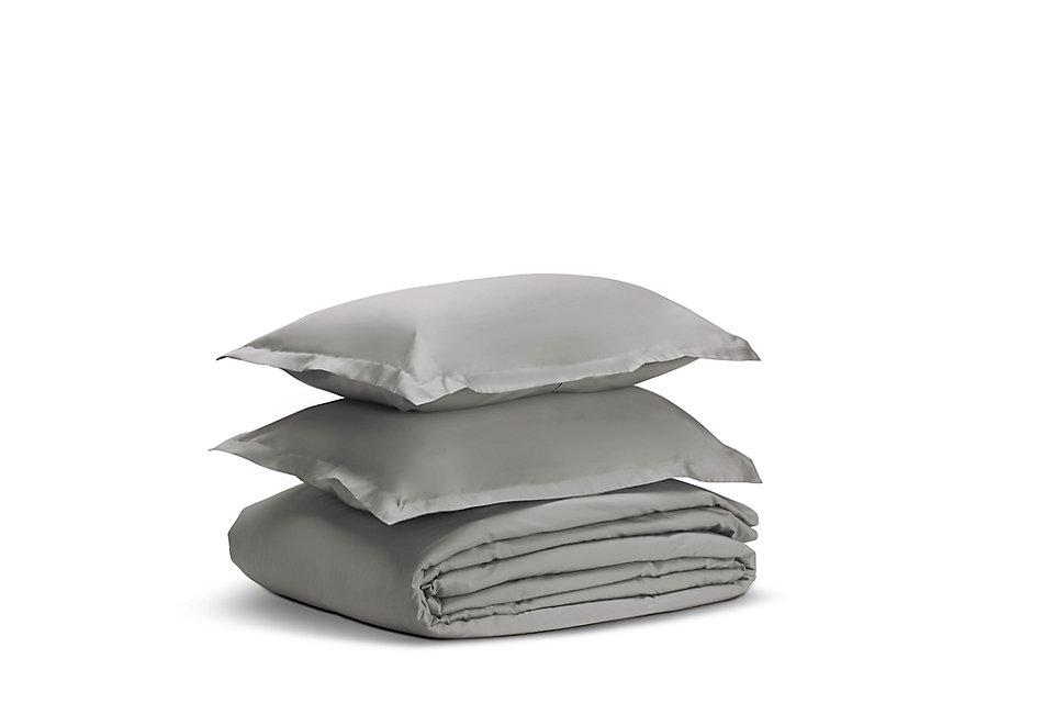 Egyptian Cotton Gray 400 Thread Duvet Set