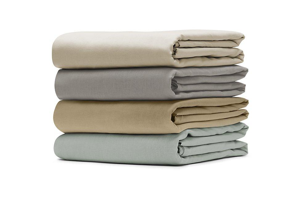 Linen Blend Ivory  Sheet Set