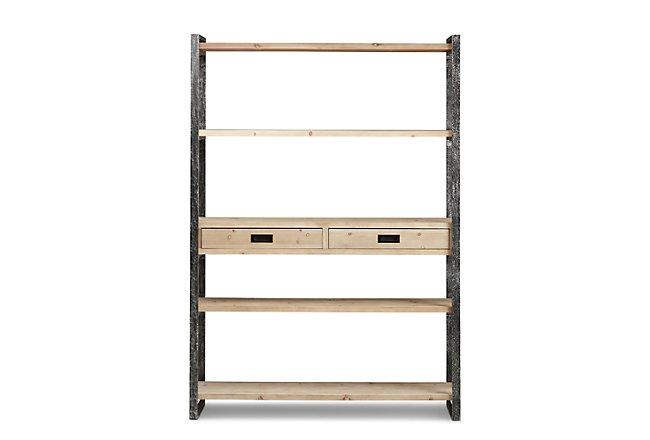 Taylor Light Tone Wood Bookcase