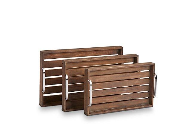 Woods Mid Tone Wood Tray