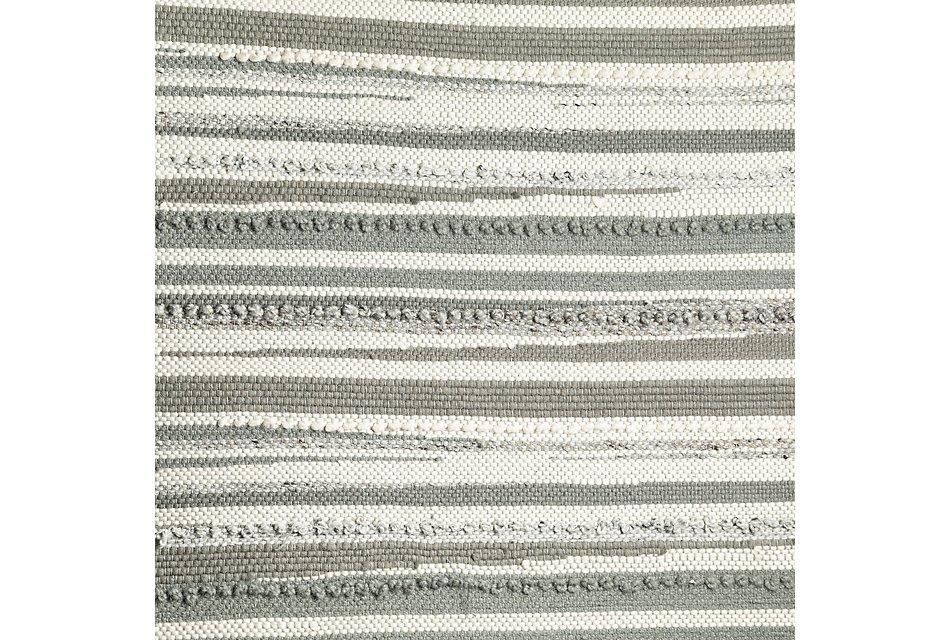 Cizin Gray Wool Blend 8x10 Area Rug