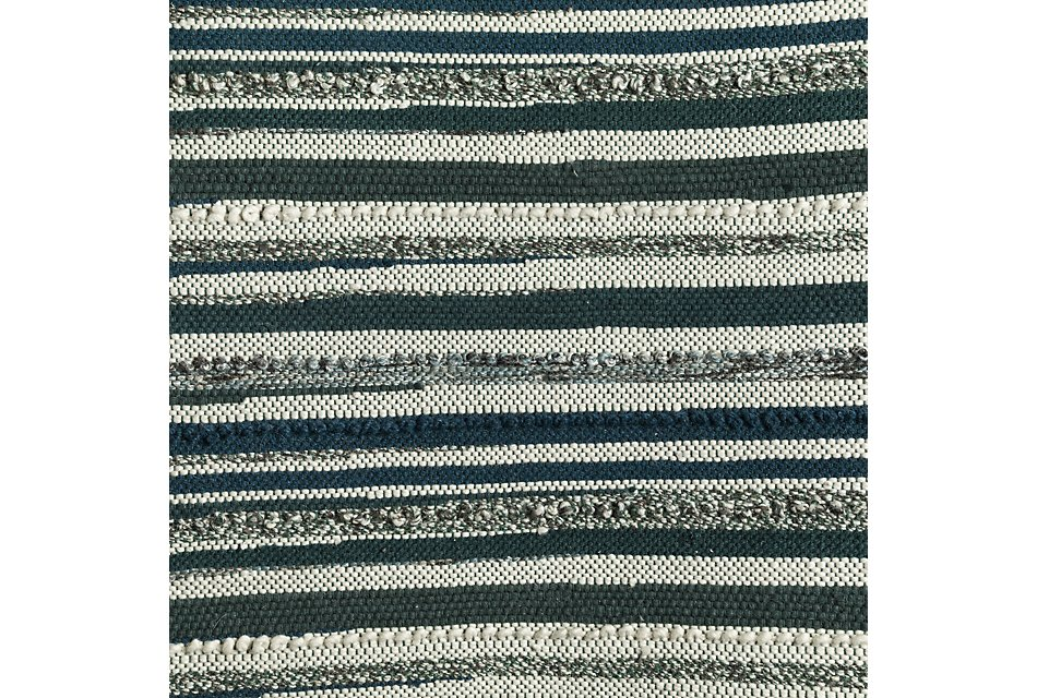 Cizin Dark Teal Wool Blend 8x10 Area Rug