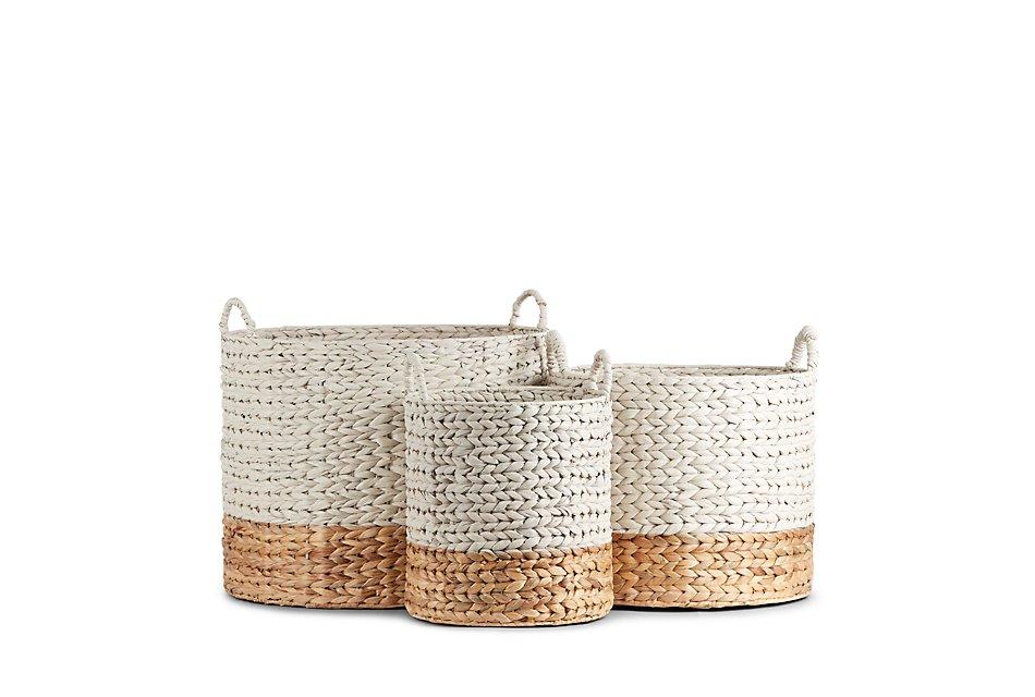 Cassie Set Of 3 Woven Basket