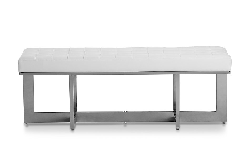 Cortina White Uph Bench   Bedroom - Benches   City Furniture