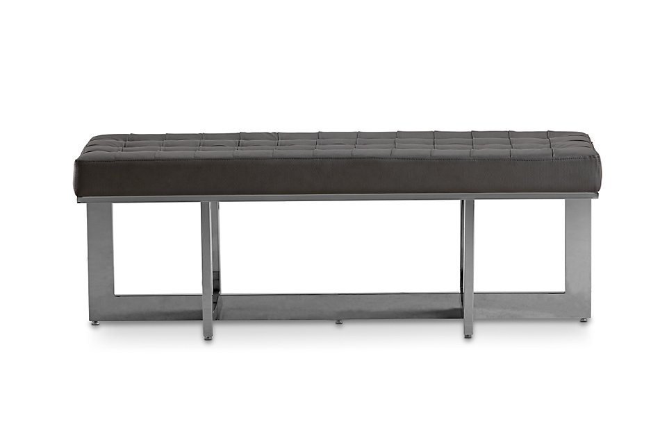 Cortina Gray Uph Bench | Bedroom - Benches | City Furniture