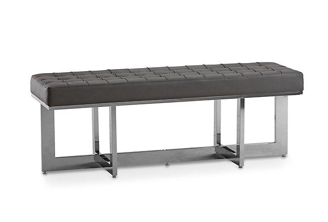 Cortina Gray Upholstered Bench