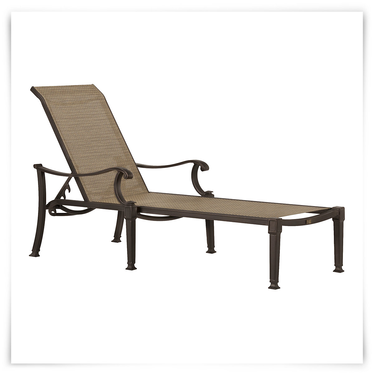 City Furniture: Primera Dark Tone Sling Chaise on Living Accents Sling Folding Chaise id=80503
